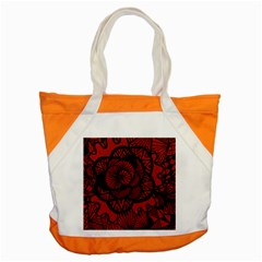 Background Abstract Red Black Accent Tote Bag