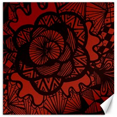 Background Abstract Red Black Canvas 12  X 12
