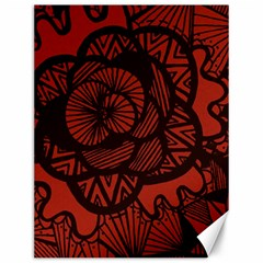 Background Abstract Red Black Canvas 12  X 16