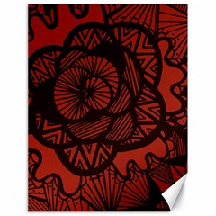 Background Abstract Red Black Canvas 18  X 24