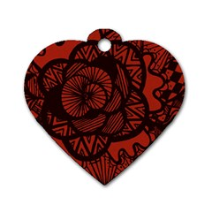 Background Abstract Red Black Dog Tag Heart (two Sides)