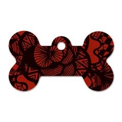 Background Abstract Red Black Dog Tag Bone (one Side)