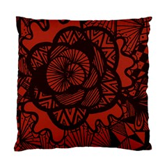 Background Abstract Red Black Standard Cushion Case (two Sides)