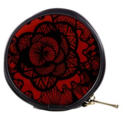 Background Abstract Red Black Mini Makeup Bags