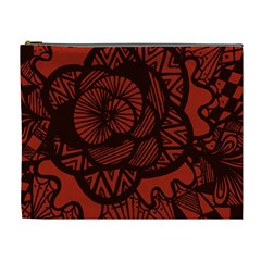 Background Abstract Red Black Cosmetic Bag (xl)