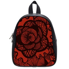Background Abstract Red Black School Bag (small)