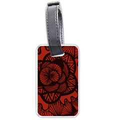 Background Abstract Red Black Luggage Tags (one Side)
