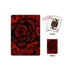 Background Abstract Red Black Playing Cards (mini)