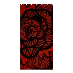 Background Abstract Red Black Shower Curtain 36  X 72  (stall)