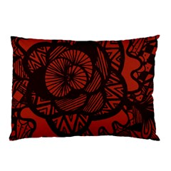 Background Abstract Red Black Pillow Case (two Sides)