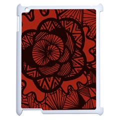 Background Abstract Red Black Apple Ipad 2 Case (white)