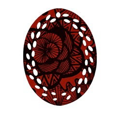 Background Abstract Red Black Ornament (oval Filigree)