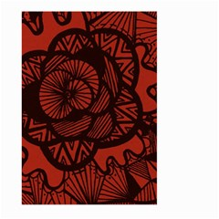 Background Abstract Red Black Large Garden Flag (two Sides)