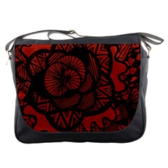 Background Abstract Red Black Messenger Bags