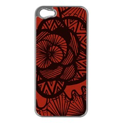 Background Abstract Red Black Apple Iphone 5 Case (silver)