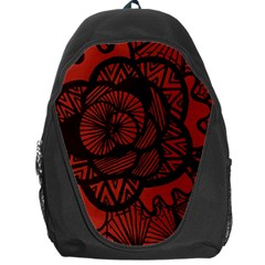 Background Abstract Red Black Backpack Bag