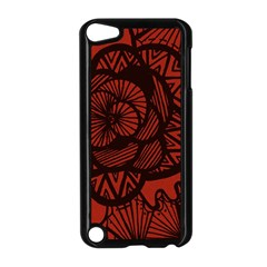 Background Abstract Red Black Apple Ipod Touch 5 Case (black)