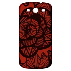 Background Abstract Red Black Samsung Galaxy S3 S Iii Classic Hardshell Back Case