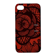 Background Abstract Red Black Apple Iphone 4/4s Hardshell Case With Stand
