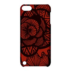 Background Abstract Red Black Apple Ipod Touch 5 Hardshell Case With Stand