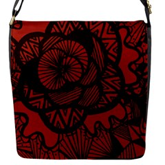 Background Abstract Red Black Flap Messenger Bag (s)