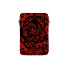Background Abstract Red Black Apple Ipad Mini Protective Soft Cases