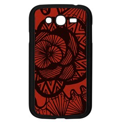 Background Abstract Red Black Samsung Galaxy Grand Duos I9082 Case (black)