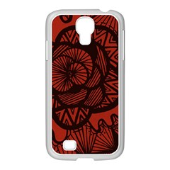 Background Abstract Red Black Samsung Galaxy S4 I9500/ I9505 Case (white)
