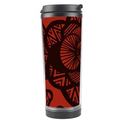 Background Abstract Red Black Travel Tumbler