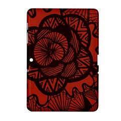 Background Abstract Red Black Samsung Galaxy Tab 2 (10 1 ) P5100 Hardshell Case