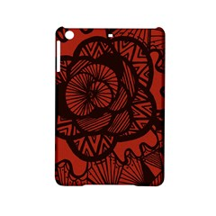 Background Abstract Red Black Ipad Mini 2 Hardshell Cases