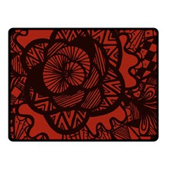 Background Abstract Red Black Double Sided Fleece Blanket (small)