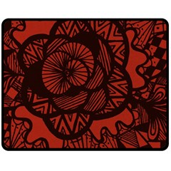Background Abstract Red Black Double Sided Fleece Blanket (medium)