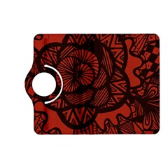 Background Abstract Red Black Kindle Fire Hd (2013) Flip 360 Case