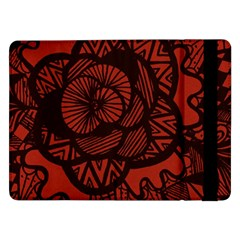 Background Abstract Red Black Samsung Galaxy Tab Pro 12 2  Flip Case