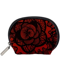 Background Abstract Red Black Accessory Pouches (small)