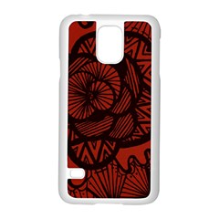 Background Abstract Red Black Samsung Galaxy S5 Case (white)