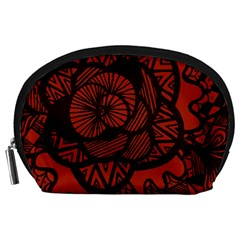 Background Abstract Red Black Accessory Pouches (large)