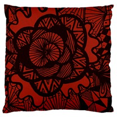 Background Abstract Red Black Standard Flano Cushion Case (one Side)