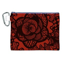 Background Abstract Red Black Canvas Cosmetic Bag (xxl)