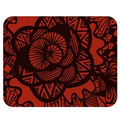 Background Abstract Red Black Double Sided Flano Blanket (medium)