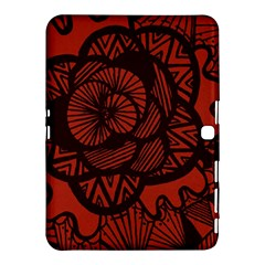 Background Abstract Red Black Samsung Galaxy Tab 4 (10 1 ) Hardshell Case