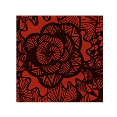 Background Abstract Red Black Small Satin Scarf (square)