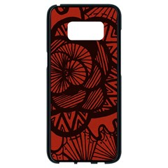 Background Abstract Red Black Samsung Galaxy S8 Black Seamless Case