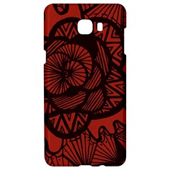 Background Abstract Red Black Samsung C9 Pro Hardshell Case