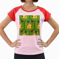 Seamless Repeating Tiling Tileable Women s Cap Sleeve T Shirt