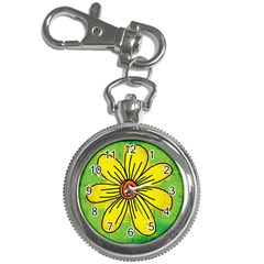 Flower Cartoon Painting Painted Key Chain Watches