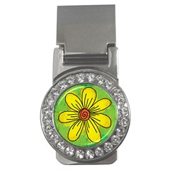 Flower Cartoon Painting Painted Money Clips (cz)