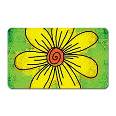 Flower Cartoon Painting Painted Magnet (rectangular)