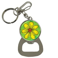 Flower Cartoon Painting Painted Button Necklaces